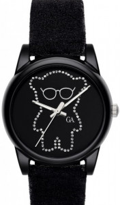 Emporio Armani Black Dial Velvet Watch