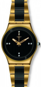 Swatch YELLOW PEARL BLACK