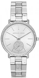 Michael Kors Jaryn Pave Silver-Tone Watch