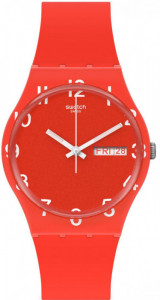 SWATCH OVER RED