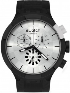 SWATCH CHEQUERED SILVER