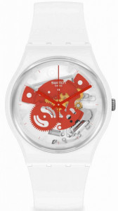 SWATCH TIME TO RED SMALL
