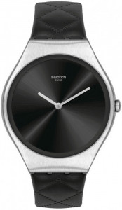 SWATCH BLACK QUILTED